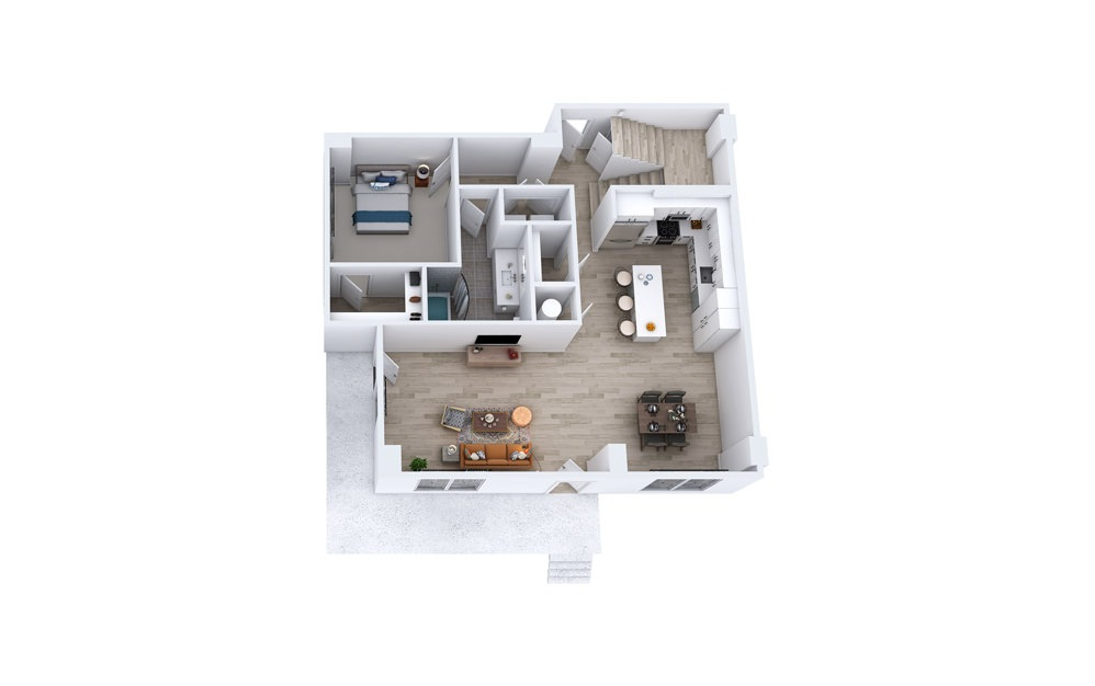 TC1 - 3 bedroom floorplan layout with 3 baths and 2355 square feet. (Floor 1)
